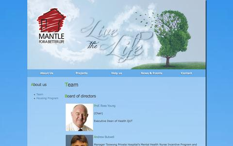 Screenshot of Team Page mantle.org.au - Team | MANTLE - captured Oct. 3, 2014