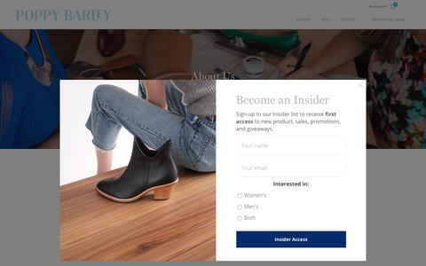 Screenshot of About Page poppybarley.com - About Us | Poppy Barley - captured May 26, 2019