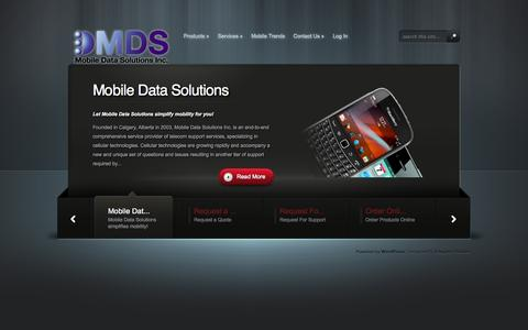 Screenshot of Home Page mobiledatasolutions.ca - Mobile Data Solutions | - captured Oct. 6, 2014