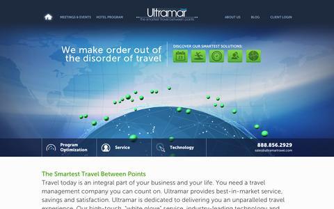 Screenshot of Home Page ultramartravel.com - Ultramar Travel Management - Welcome - captured Sept. 19, 2014