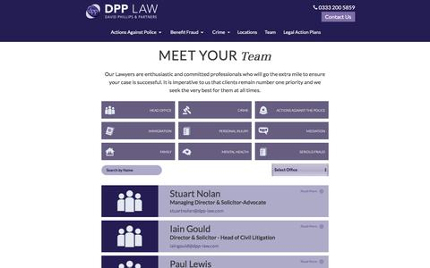 Screenshot of Team Page dpp-law.com - Meet the Team - DPP Law - captured Nov. 23, 2016