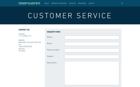 Screenshot of Support Page stoprust.com - Customer Service - captured Nov. 24, 2016