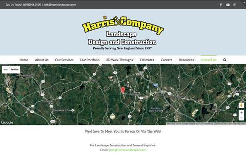Screenshot of Contact Page harrislandscapes.com - Contact a Bellingham Landscaper |Harris & Company - captured Oct. 27, 2016