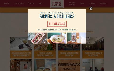 Screenshot of Blog wearefoundingfarmers.com - Blog | Founding Farmers - captured Dec. 19, 2018
