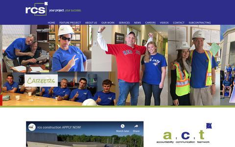 Screenshot of Jobs Page rcsinc.ca - rcs construction | General Contractor | Commercial Construction | Atlantic Canada | Construction Careers - captured Oct. 18, 2018