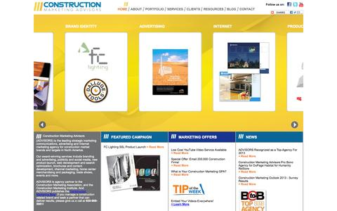 Screenshot of Home Page constructionmarketingadvisors.com - Construction Marketing Agency - Construction Marketing Advisors - captured Sept. 30, 2014