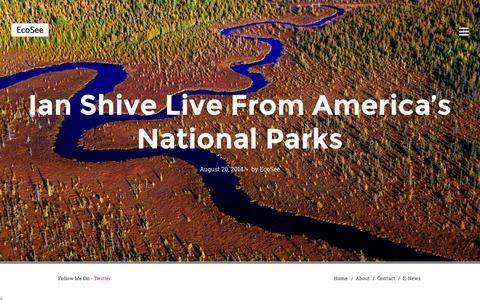 Screenshot of Home Page ecosee.com - EcoSee - captured Oct. 5, 2014
