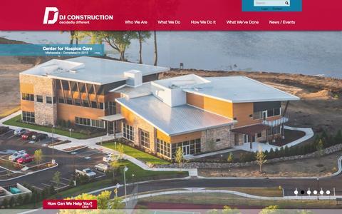 Screenshot of Home Page djconstruction.com - DJ Construction - Decidedly Different | Goshen, Indiana : DJ Construction - captured Oct. 5, 2014
