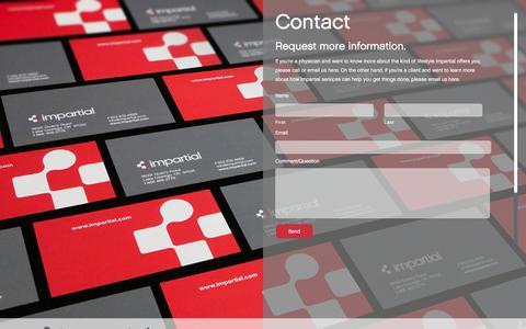 Screenshot of Contact Page impartial.com - contact   impartial - captured Jan. 9, 2016
