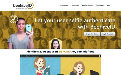Screenshot of Home Page beehiveid.com - Beehive ID Home | Online Identity - captured Feb. 7, 2016