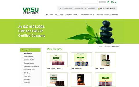 Screenshot of Products Page vasuhealthcare.com - Welcome to VASU Healthcare Pvt. Ltd. - captured Oct. 26, 2014