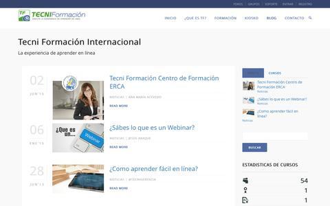 Screenshot of Blog tecniformacion.com - Blog – Tecni Formación Internacional - captured April 22, 2016