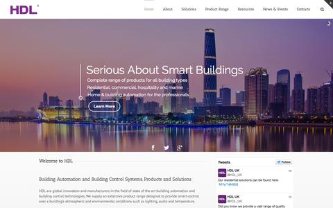 Screenshot of Home Page hdl-uk.co.uk - Building Automation and Smart Building Control Systems in the UK | HDL Technology - captured July 17, 2015