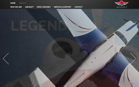 Screenshot of Home Page mooney.com - Mooney International Mooney International - captured Oct. 1, 2014