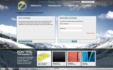 Screenshot of Login Page klymit.com - Customer Login - captured Sept. 19, 2014