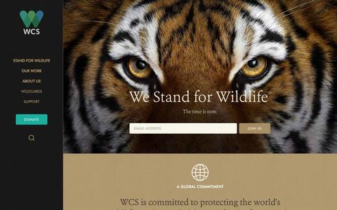 Screenshot of Home Page wcs.org - Saving Wildlife and Wild Places - WCS.org - captured Oct. 15, 2015