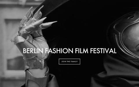 Screenshot of Home Page berlinfashionfilmfestival.net - Berlin Fashion Film FestivalHome - captured Jan. 1, 2016