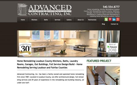 Screenshot of Home Page aciremodel.com - Home Remodeling in Fairfax & Loudoun County, VA - captured Oct. 3, 2018