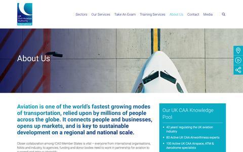 Screenshot of About Page caainternational.com - About Us - CAA International (CAAi) - captured July 14, 2018