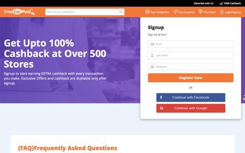 Screenshot of FAQ Page freekaamaal.com - FAQs - Freekaamaal.com - captured Aug. 22, 2018