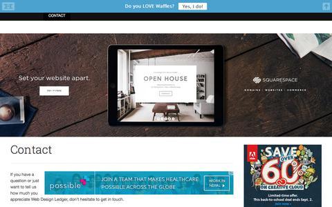 Screenshot of Contact Page webdesignledger.com - Contact - Web Design Ledger - captured Aug. 19, 2016
