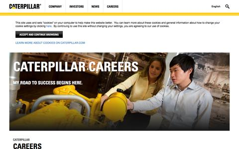 Screenshot of Jobs Page caterpillar.com - Caterpillar | Careers - captured Sept. 19, 2014