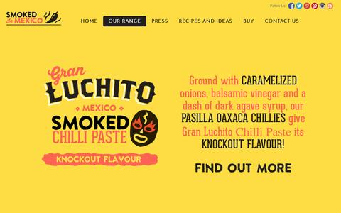 Screenshot of Products Page luchito.co.uk - The Gran Luchito Product Range - captured Oct. 3, 2014
