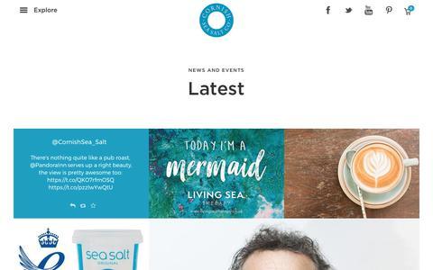 Screenshot of Press Page cornishseasalt.co.uk - News – Cornish Sea Salt - captured Sept. 3, 2017