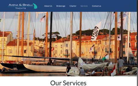 Screenshot of Services Page avena-binelli.com - Our Services - Avena-Binelli - captured July 27, 2016