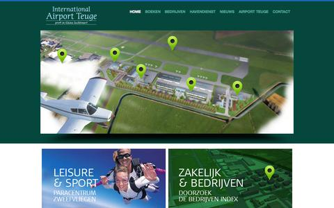 Screenshot of Home Page teuge-airport.nl - Home - Airport Teuge - captured Oct. 9, 2015