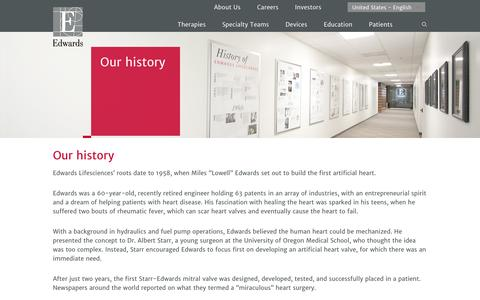 Our history | Edwards Lifesciences