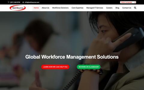 Screenshot of Home Page net2source.com - Net2Source Inc. - captured April 10, 2019