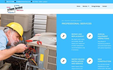 Screenshot of Services Page 4pointsservices.com - Services – 4 Points Services - captured Nov. 7, 2017