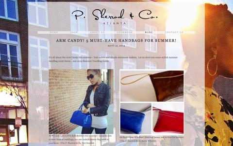Screenshot of Blog psherrod.com - Blog — P. Sherrod & Co. - captured Oct. 1, 2014
