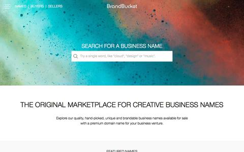 BrandBucket - The Largest Brandable Business Names Marketplace