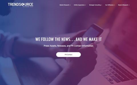 Screenshot of Press Page trendsource.com - Press | TrendSource - captured Oct. 22, 2017