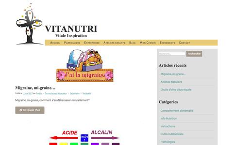 Screenshot of Blog vitanutri.be - Blog - VITANUTRI - captured June 14, 2017