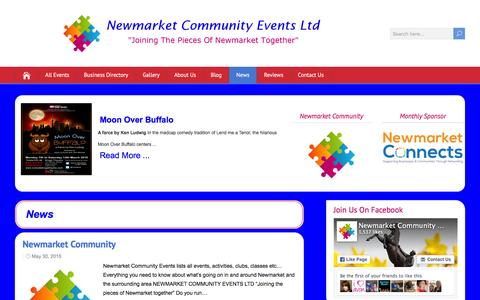 Screenshot of Press Page newmarketcommunity.co.uk - News Archives - Newmarket Community Events Ltd - captured Feb. 24, 2016