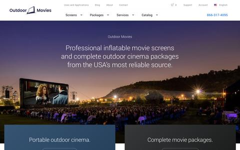 Screenshot of Home Page outdoor-movies.com - Outdoor-Movies.com | Home - captured Nov. 2, 2017