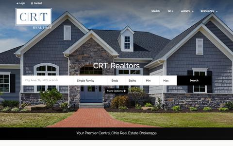 Screenshot of Home Page crtrealtors.com - Your Premier Central Ohio Real Estate Brokerage - captured July 20, 2018