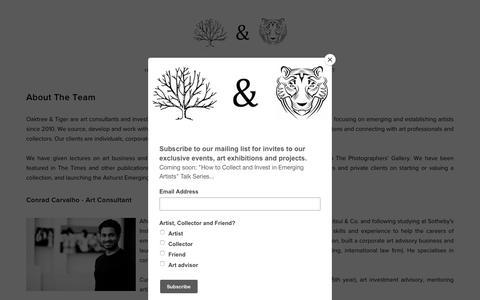 Screenshot of About Page oaktreeandtiger.com - About - Oaktree & Tiger - captured Nov. 16, 2018