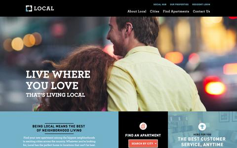 Screenshot of Home Page mylocalapt.com - Local Apartments for rent in the best neighborhoods in the U.S. - captured March 3, 2016