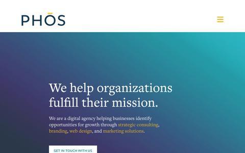 Screenshot of Home Page phoscreative.com - PHOS Creative   Award-Winning Digital Agency   Gainesville, FL - captured Oct. 20, 2018