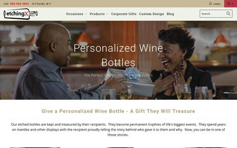 Screenshot of Home Page etchingexpressions.com - Personalized Gifts & Engraved Wine Bottles | EtchingX - captured July 21, 2018