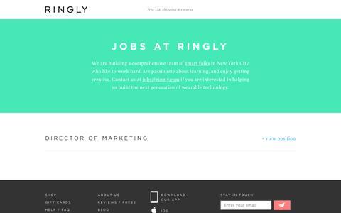 Screenshot of Jobs Page ringly.com - RINGLY | Jobs - captured Nov. 8, 2016