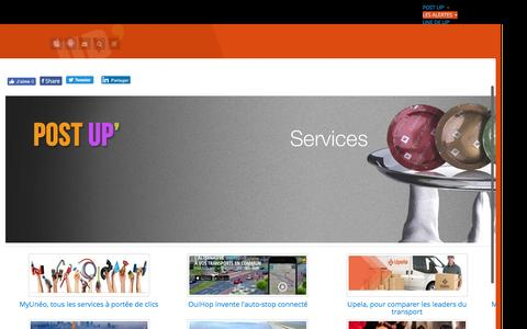 Screenshot of Services Page up-magazine.info - UP Magazine - SERVICES - captured July 22, 2016