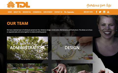 Screenshot of Team Page tdl.com.au - Landscaping team | Tim Davies Landscaping - captured Oct. 7, 2014