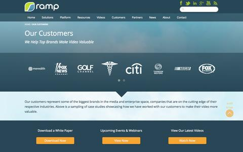 Screenshot of Case Studies Page ramp.com - Our Customers - RAMP - captured Sept. 17, 2014