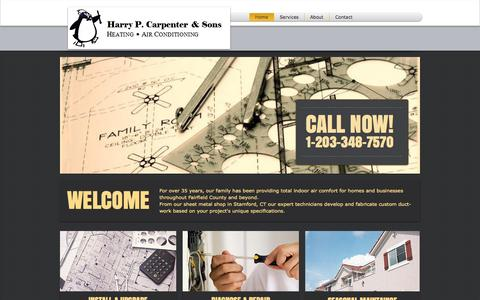 Screenshot of Home Page hpcarp.com - hpcarp - captured Sept. 20, 2015