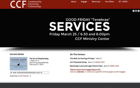 Screenshot of Home Page ccfedmonds.org - CCF - Community Christian Fellowship - captured Feb. 24, 2016